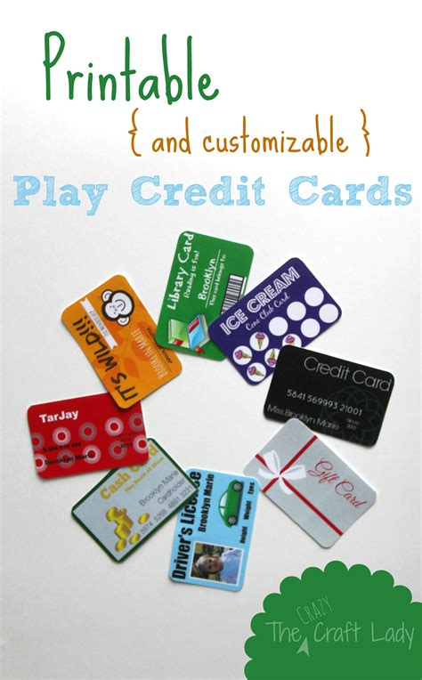 make visa card printable and customizable play credit cards the