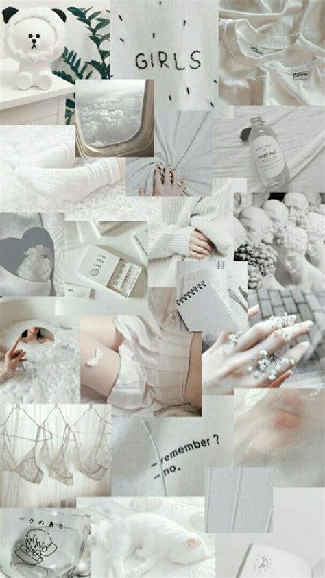 white aesthetic ide dekorasi ruang seni kertas dinding