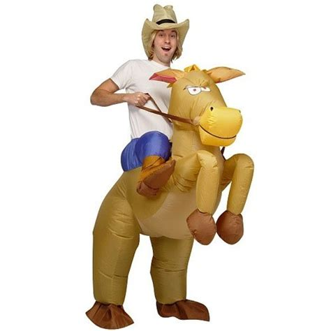 cowboy film kinder disfraz de vaquero con caballo inflable