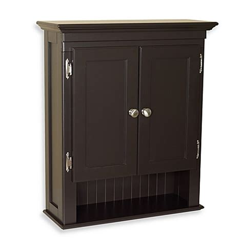 Espresso Bathroom Storage Buy Fairmont Wall Cabinet In Espresso From Bed Bath Beyond