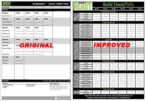 beast workout sheet free improved beast workout sheets