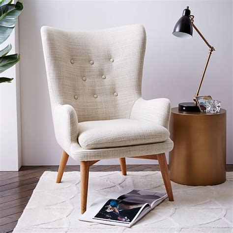 chair living room niels wing chair west elm