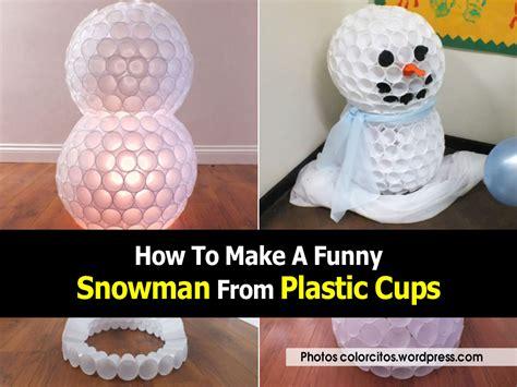 plastic cup snowman craft car interior design
