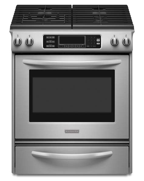 Kitchen Oven Range Reviews Kitchenaid Kgss907sss 4 1 Cu Ft Self Cleaning Slide In