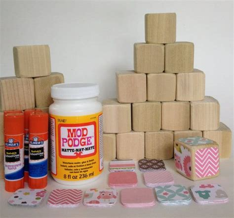 Baby Shower Crafts For Guests by Diy Wood Baby Blocks Baby Baby Shower Craft
