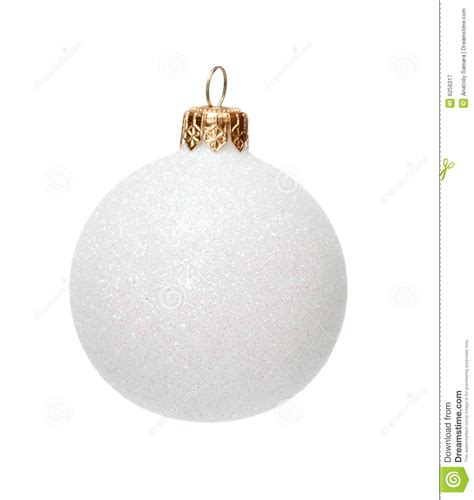 white christmas ball isolated royalty free stock