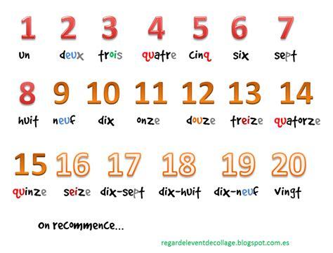 frances para ninos contar regardelevent d 233 butants aprende a contar en franc 233 s del 1 al 20