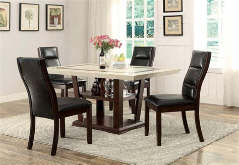 Coaster Dining Table Set Coaster 105841 842 Lacombe 5 Pc Cappuccino Dining Table And Chairs Set