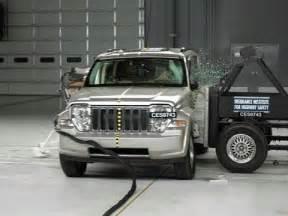 2008 jeep liberty side iihs crash test youtube