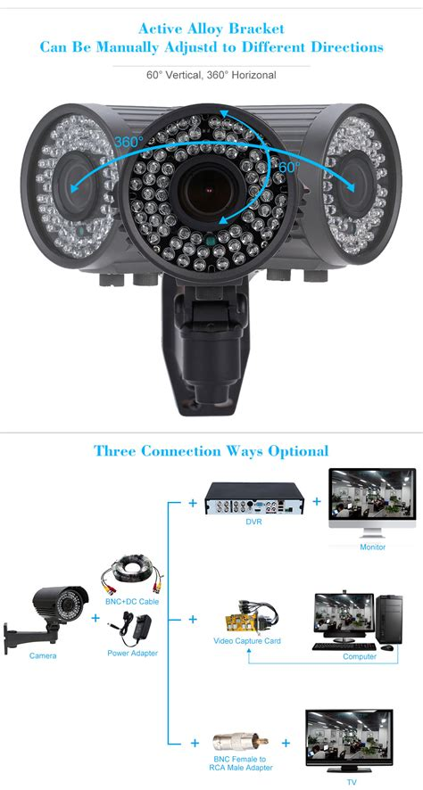 Kamera Cctv Zoom wasserdichte 1200tvl ir 220 berwachungskamera kkmoon zoom varifocal cctv kamera hamburg