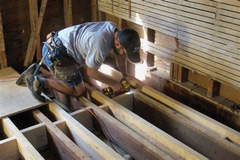 how to level a house new joists for an old floor jlc online framing