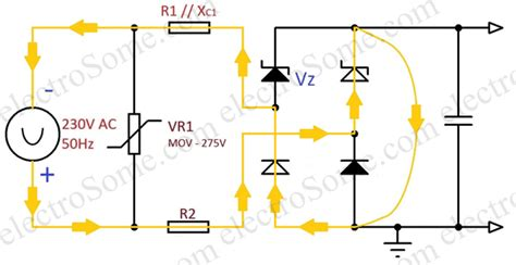 capacitor in a dc power supply transformerless capacitor power supply design