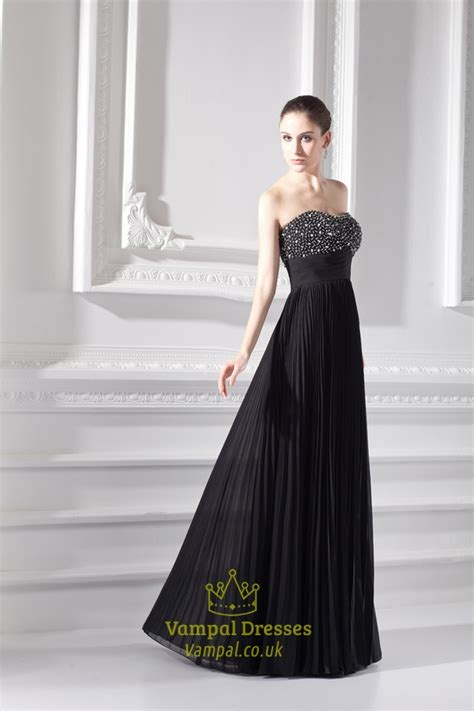 black beaded evening dresses black prom gowns with
