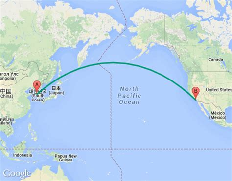 map usa korea image gallery korean air flight map