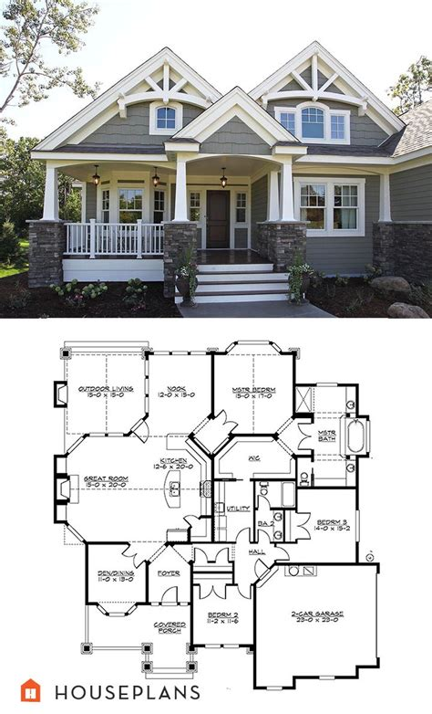 house plan residential home floor showy craftsman houses