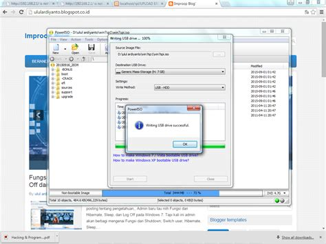 membuat bootable windows xp dengan poweriso cara membuat bootable flashdisk dengan power iso improop