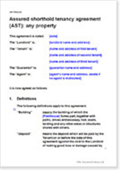 shorthold tenancy agreement template uk agreements to create an assured shorthold tenancy