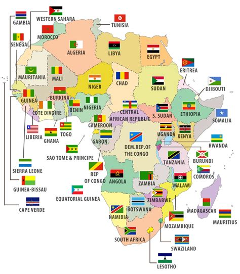 africa map quiz i like to learn all flags map