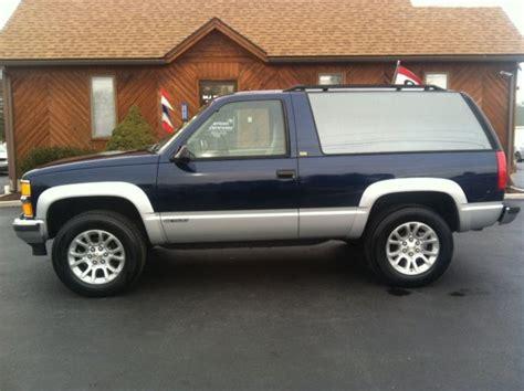 1994 Chevy Tahoe 2 Door by 1994 Chevrolet Blazer 2 Door Tahoe K5 4x4 Excellent Condition