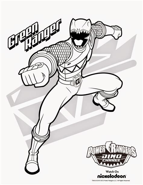 Coloring Pages Of Power Rangers Dino Charge | free jungle fever coloring pages