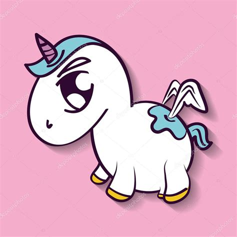 imagenes de unicornios animados para dibujar dise 241 o de dibujos animados de unicornio caballo vector
