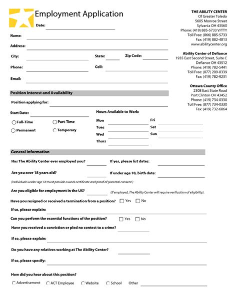 free employment application templates application template jvwithmenow