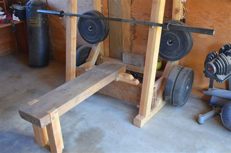 how to make your own bench weight rack and bench master of none