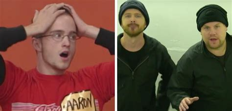 aaron paul price is right watch breaking bad s aaron paul and james corden get