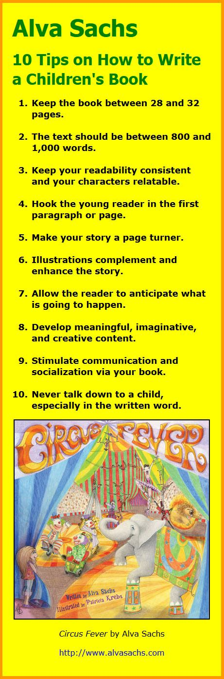 how to write a picture book for children alva sachs 10 tips on how to write a children s book