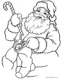 Printable christmas coloring sheets santa