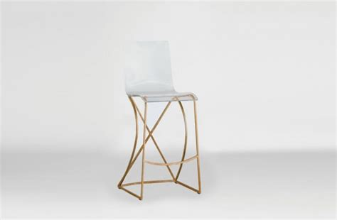 Clear Acrylic Bar Stool by Transparent Acrylic Bar Stool Gold And Lucite Johnson