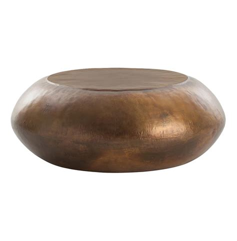 brass drum coffee table santiago modern burnished brass drum coffee table kathy
