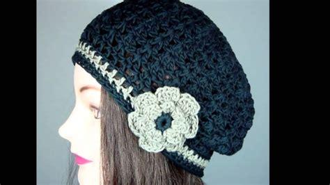 imagenes boinas negras boina caida tejida a crochet youtube