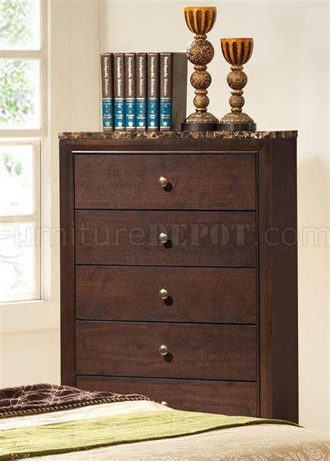 faux marble bedroom set b102 bedroom set in brown cherry w faux marble top casegoods
