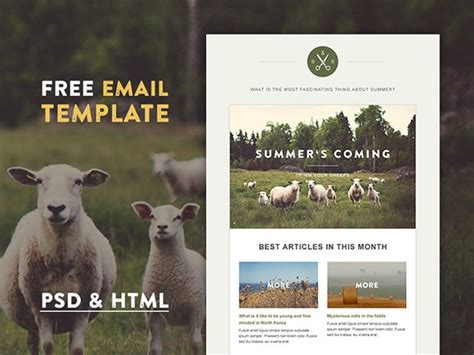 bootstrap templates for village green village html email template freebiesbug