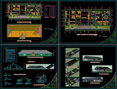 administration building  dwg design full project