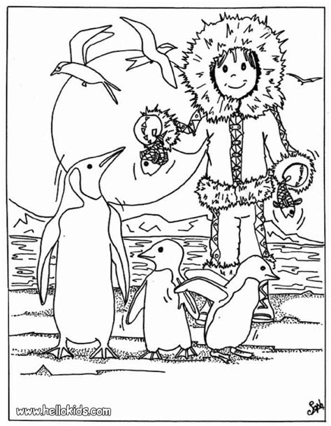 eskimo coloring pages 5 eskimo colouring pages stock