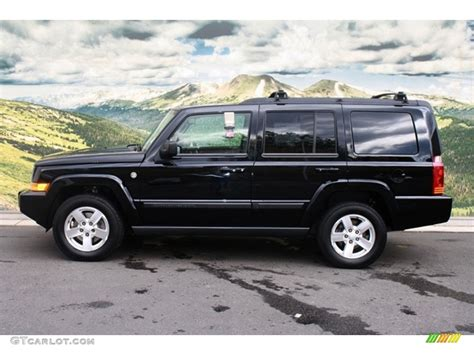Black Jeep 4x4 Black Clearcoat 2007 Jeep Commander Sport 4x4 Exterior