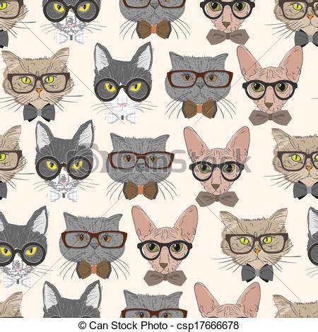 imagenes hipster gatos patr 243 n gatos hipster seamless plano de fondo patr 243 n