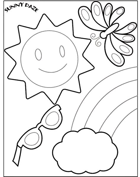 Summer Coloring Pages For Kindergarten preschool coloring pages coloring home
