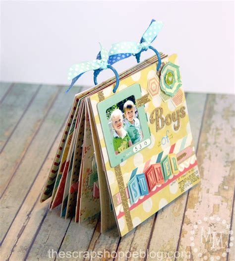 How To Make A Handmade Scrapbook Album - boys of summer mini album scrapbooking tips tricks