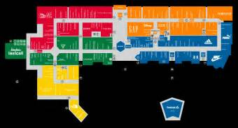 premium outlet map center map for orlando international premium outlets 174 a