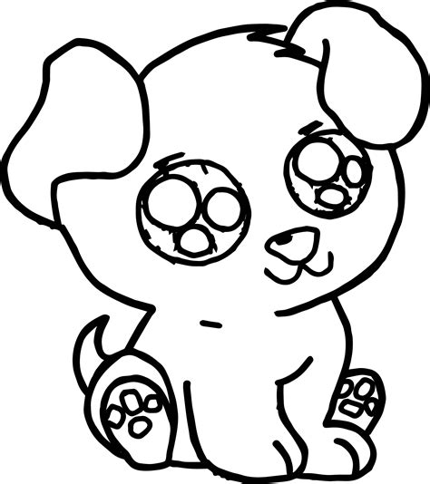 cute puppy  images puppy dog coloring page