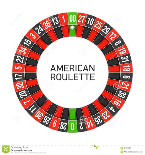 roulette layout vector american roulette wheel stock vector illustration of