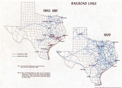 texas railroad maps atlas of texas perry casta 241 eda map collection ut library