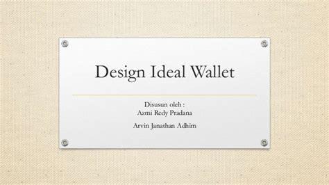 metodologi desain database laporan metodologi desain design wallet