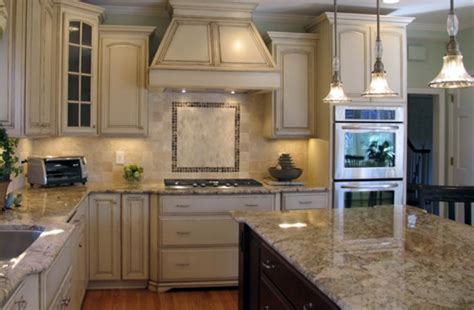how to distress white kitchen cabinets stylish kitchen with distressed cabinets home design