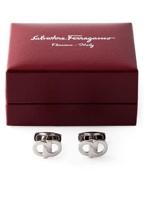 Salvatore Ferragamo 6606 Set 2 In 1 Semi Premium ferragamo gancini cufflinks in metallic for lyst