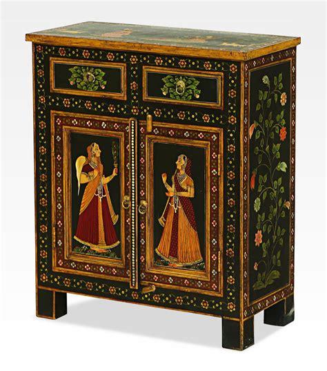 credenze indiane credenza indiana dipinta con gopi legno di mango 0022