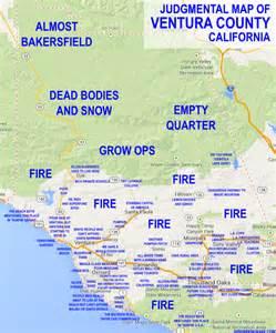 judgemental map of ventura county bakersfield ojai